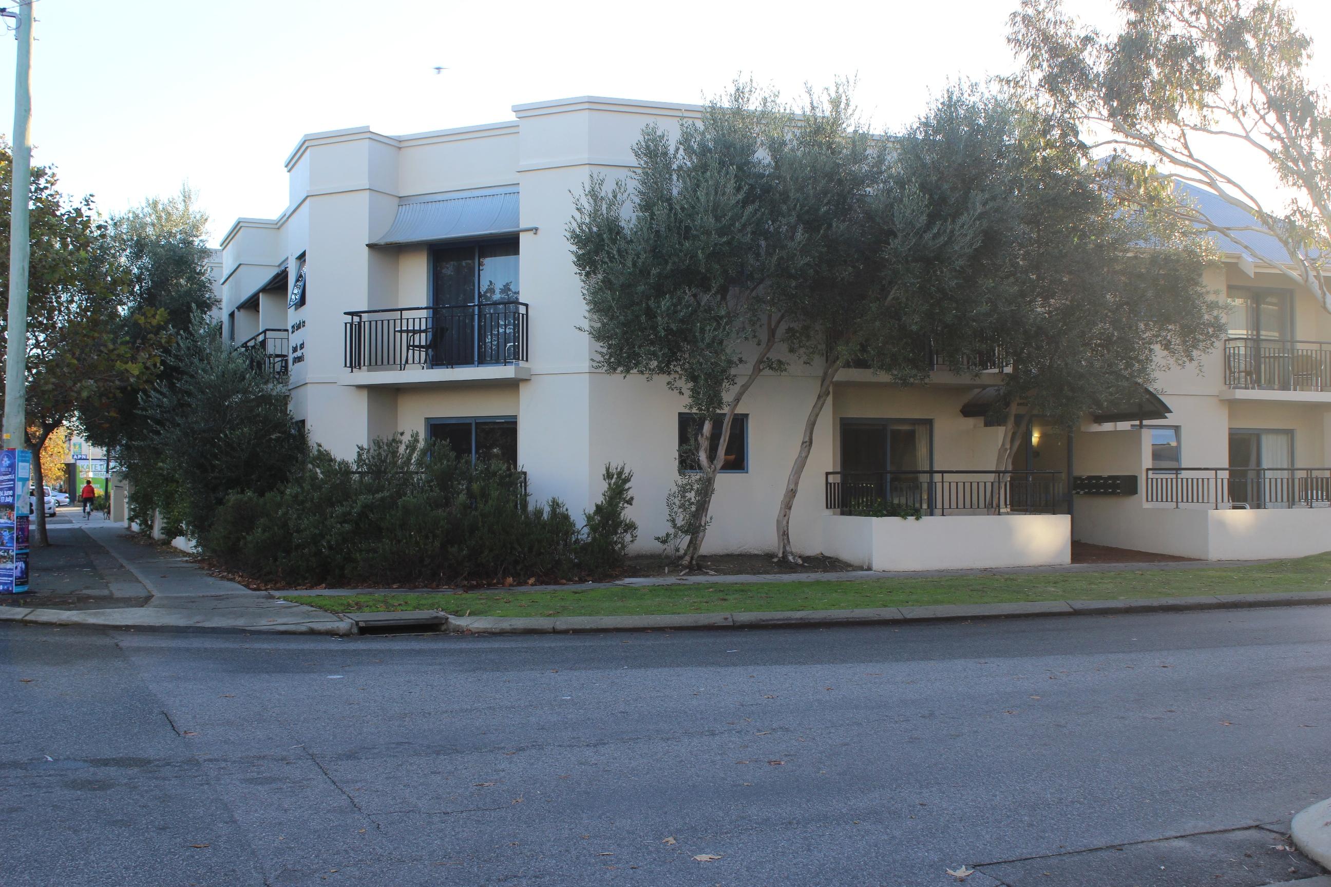 exterior shot of apartments