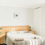 Bedroom with grey linen