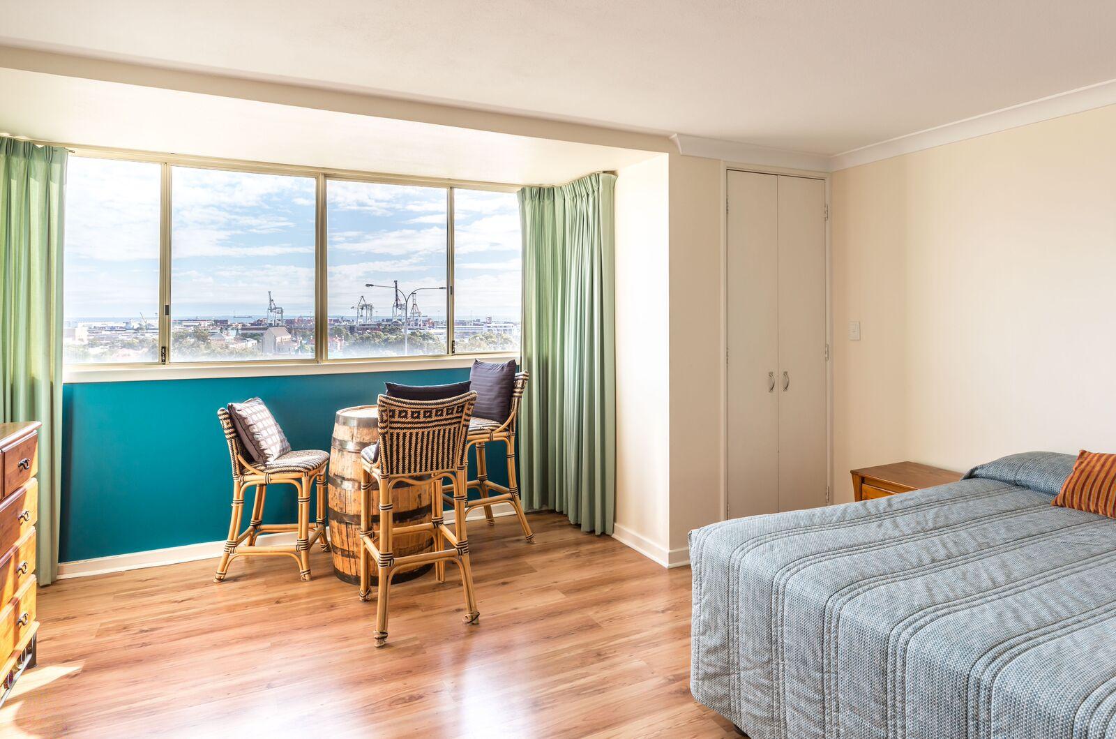 Bedroom view of ocean