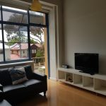Lounge room with street view